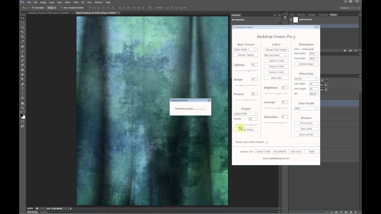Free Digital Backgrounds Photoshop Plugin Youtube