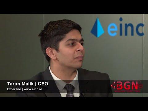 Ether Inc | CEO Tarun Malik | First Live Decentralized Autonomous Organization Platform | TokenMatch