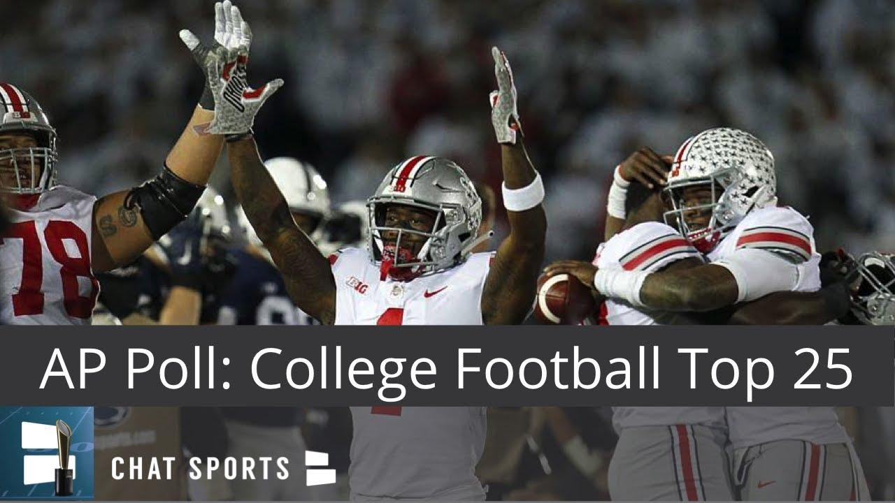 AP Poll: College Football Top 25 Rankings For Week 6 - YouTube