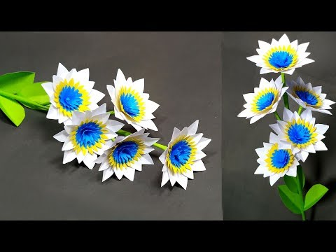 Paper Flower Making Beautiful Idea for Room   How to Make Flower   Abigail Paper Crafts