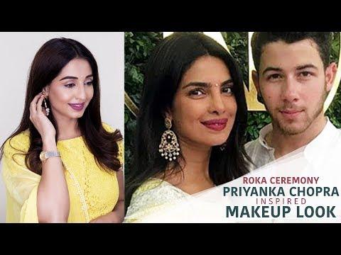 Priyanka Chopra Engagement Makeup Look   Priyanka Chopra Inspired Makeover   2018 Celebrity Makeup