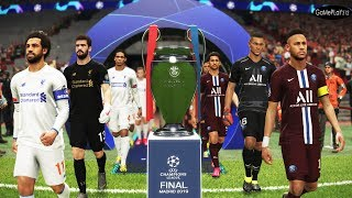 PSG vs Liverpool - Final UEFA Champions League UCL - Neymar vs Salah - PES 2019