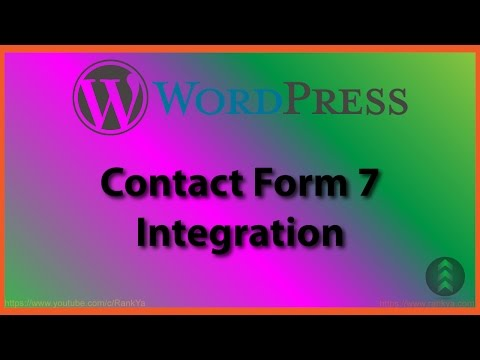 WordPress Contact Form 7 - How to Use Integration Feature - 동영상