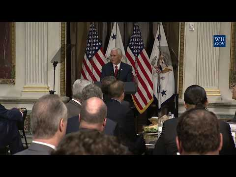 Vice President Pence Gives Remarks at an Infrastructure Summit