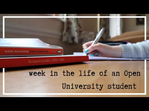 week in the life of an Open University student