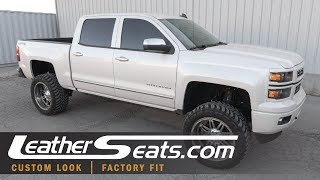 14-18 Chevrolet Silverado Leather Interior Kit and Seat Heater/Cooler Units - LeatherSeats.com