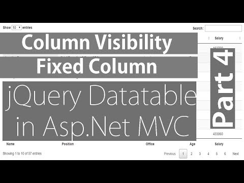 Column Visibility And Fixed Columns in jQuery Datatable