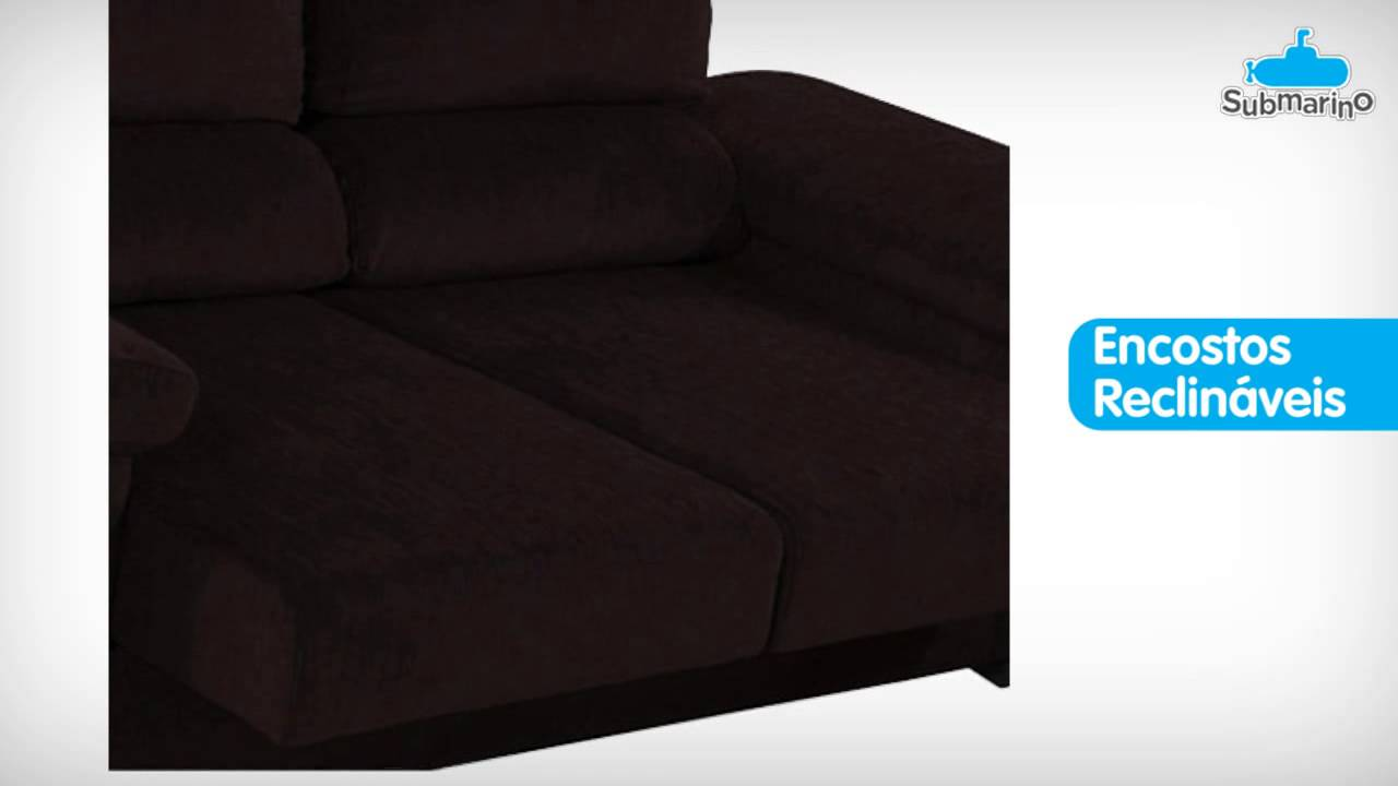 Sofa Retratil E Reclinavel Submarino Sofá 2 Lugares Reclinável E Assento Retrátil Abbeville Chenille Chocolate Anjos