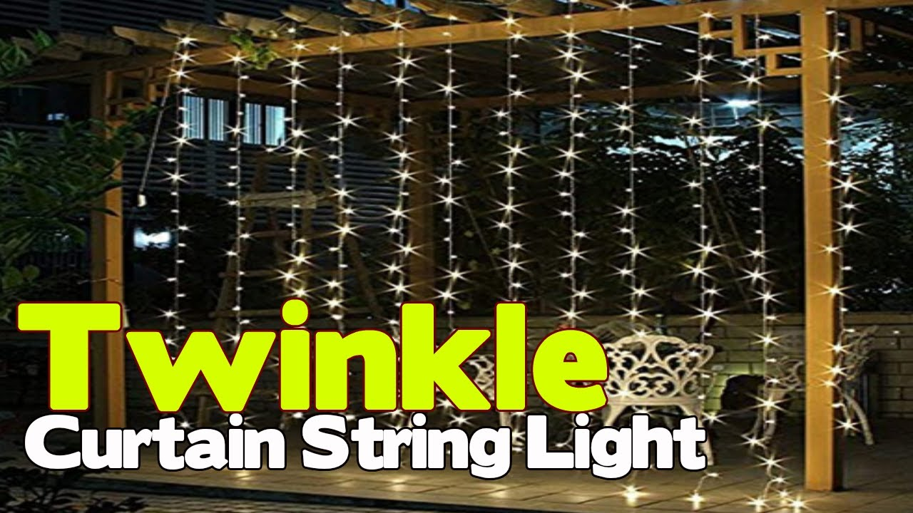 twinkle star 300 led window curtain string light decoration ideas for home outdoor