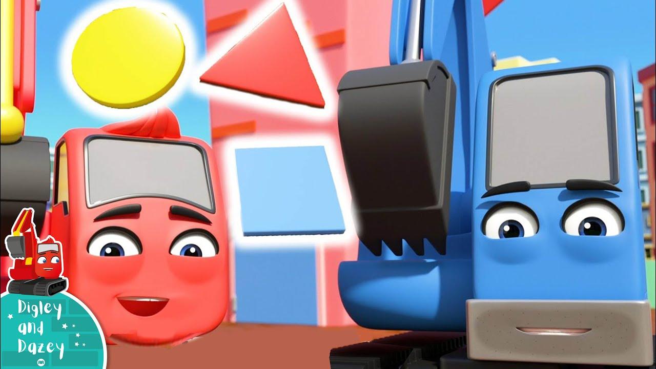 Finde und lerne Formen - Digley und Dazey Deutsch | Kinderlieder | Cartoons für Kinder