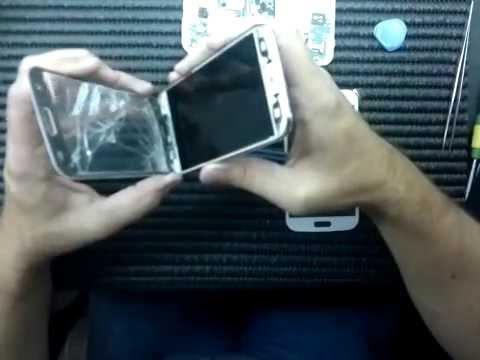 Troca do touch 8552 galaxy win, Tutorial troca do vidro.