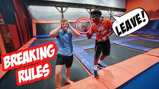 BREAKING ALL TRAMPOLINE PARK RULES!
