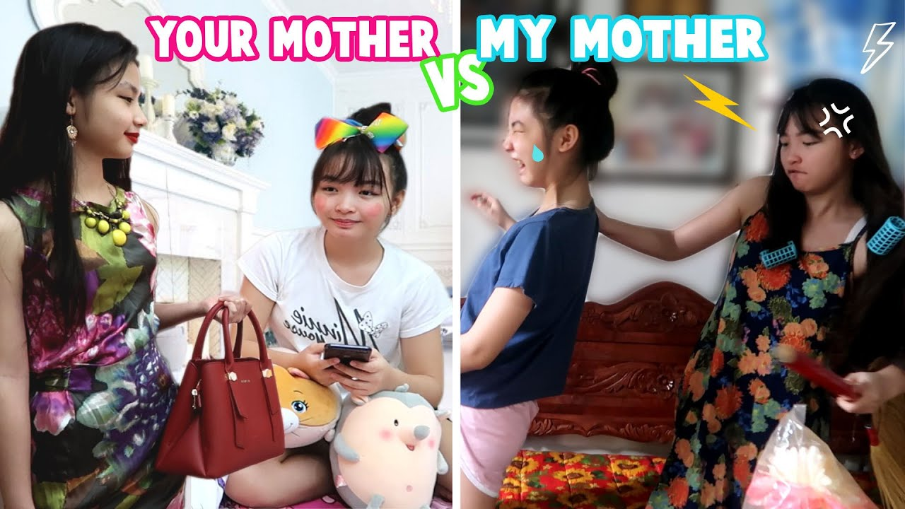 SOSYAL NA NANAY VS DI SOSYAL NA NANAY   ALA YOUR MOTHER VERSUS MY MOTHER   Aurea & Alexa