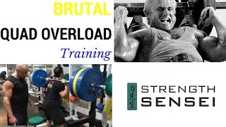 Coach Charles Poliquin Shows A Brutal Quad Overload Training