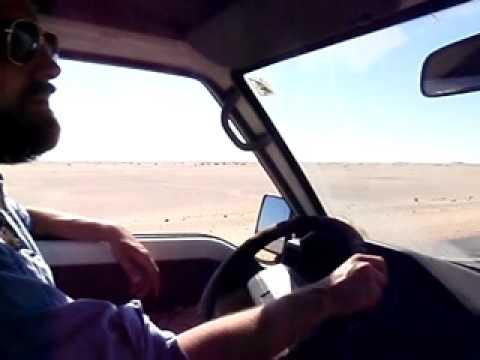 Woestijnweg Atbara Karima, Sudan