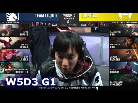 Team Liquid vs Dignitas | Week 5 Day 3 S10 LCS Spring 2020 | TL vs DIG W5D3