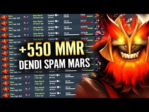 MARS Too Strong!! +550 MMR DENDI spamming NEW Hero Dota 2 EPIC Pro 7.21 META - 동영상