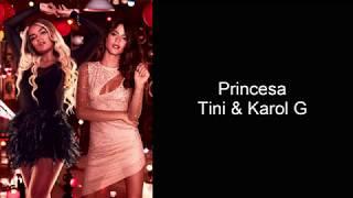 Tini & Karol G - Princesa | lyrics