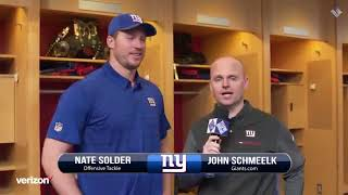 Giants Insider: NEW OT/LT Nate Solder  discusses  why he Chose to Joine the Giants & More
