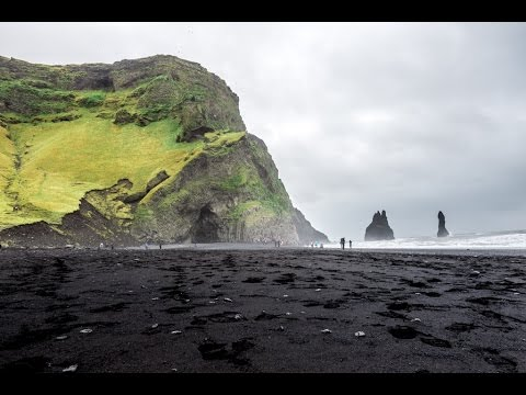 reynisfjara black sand beach in vik iceland youtube. Black Bedroom Furniture Sets. Home Design Ideas