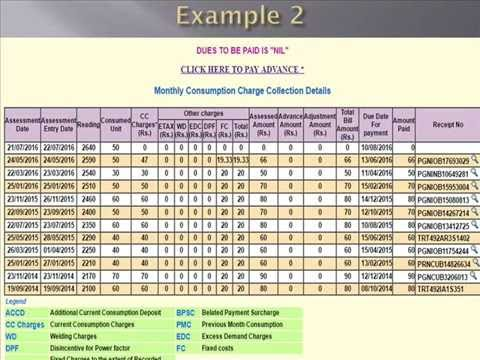 Electricity Bill: Excel Formula For Electricity Bill Calculation