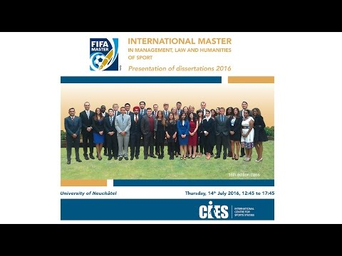 FIFAmaster - Presentation of dissertations 2016