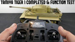 TAMIYA 1/16 TIGER 1 RC Tank BOVINGTON TIGER Build Series - Completed & Tank Functions