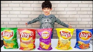 Learn Colors With Potato Chips for Children, Toddlers and Babies | Bad  Colors For Children Channel
