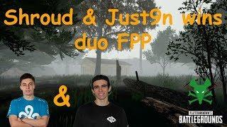 Shroud & Just9n wins duo FPP - PUBG BROADCASTİNG #3
