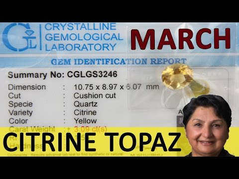 Gemstone For March - Citrine Topaz - Energy Abundance From Jupiter