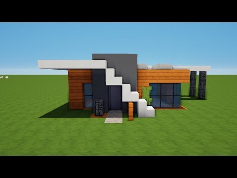 kleines modernes minecraft haus bauen tutorial haus 66. Black Bedroom Furniture Sets. Home Design Ideas
