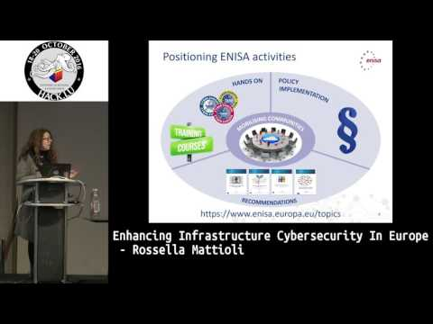 Hack.lu 2016 Enhancing infrastructure cybersecurity in Europe by Rosella Mattioli