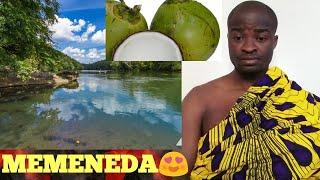 Saturday (MEMENEDA) prayers (Apae) at the riverside with coconut water - Evangelist Addai