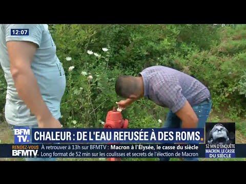 En Gironde, un camp de Roms privé d'eau en pleine canicule