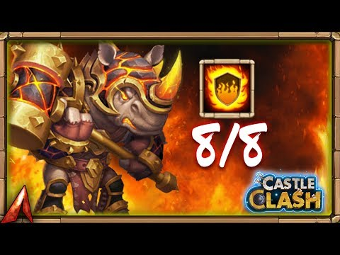 Castle Clash Rockno 8/8 Flame Guard!