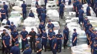 What does 34 metric tons of cocaine look like?