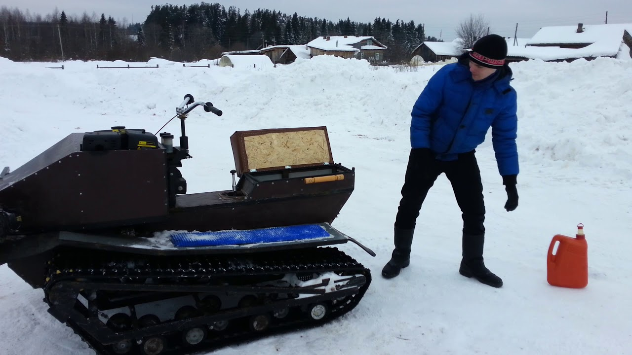КОНКУРЕНТ для БУРАНА. самодельный снегоход