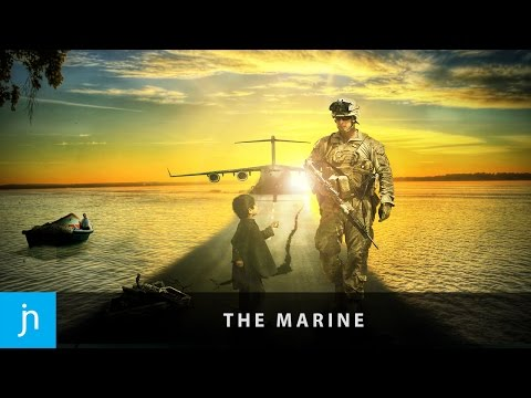 """The Marine"" – Photo Manipulation Speed art (Photoshop Tutorial)"
