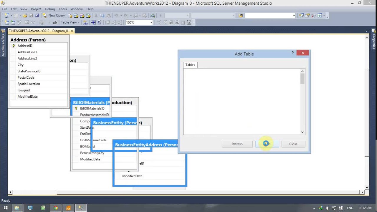 How to create database diagrams for database adventure work 2012 how to create database diagrams for database adventure work 2012 in sql server 2012 ccuart Choice Image