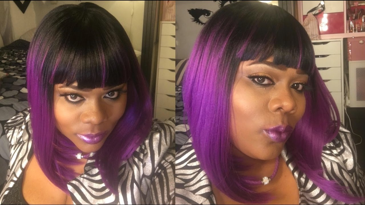Zury Sis A-Line MOA Som RT Purple Wig Review