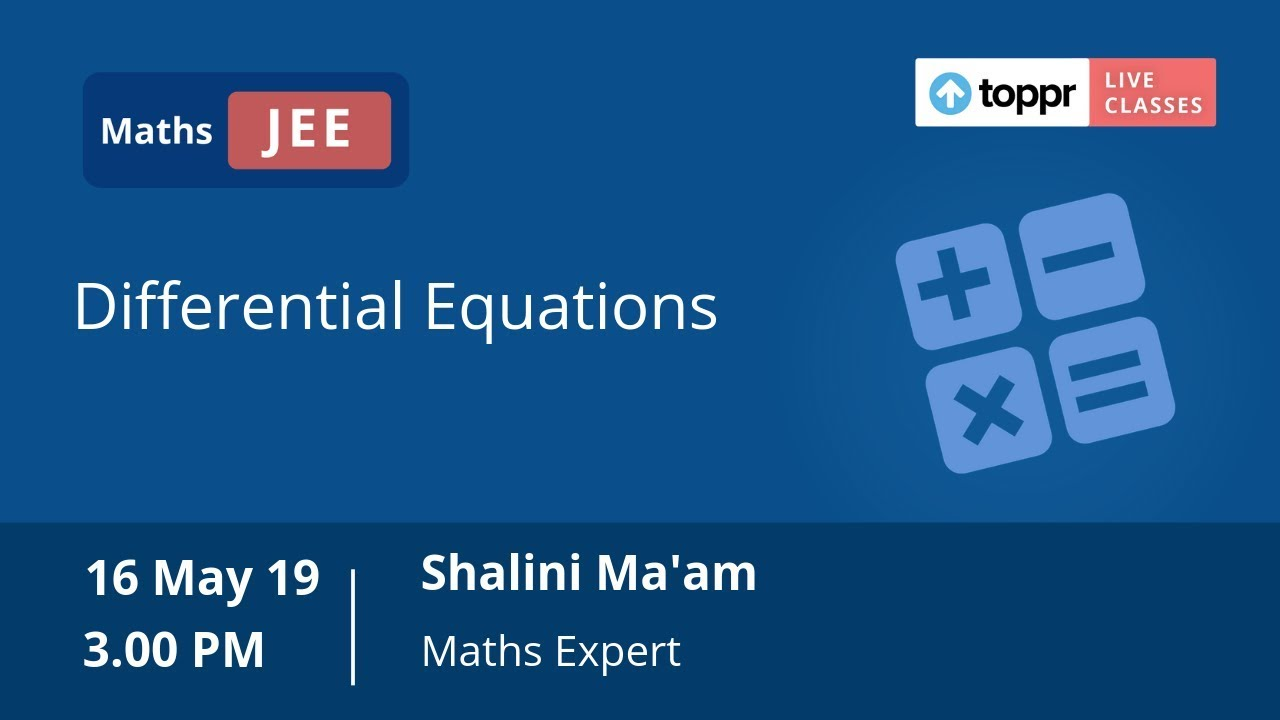 Order and Degree of Differential Equation: Concepts, Videos & Examples