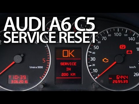 Audi A6 C5 service reset (oil inspection maintenance reminder)