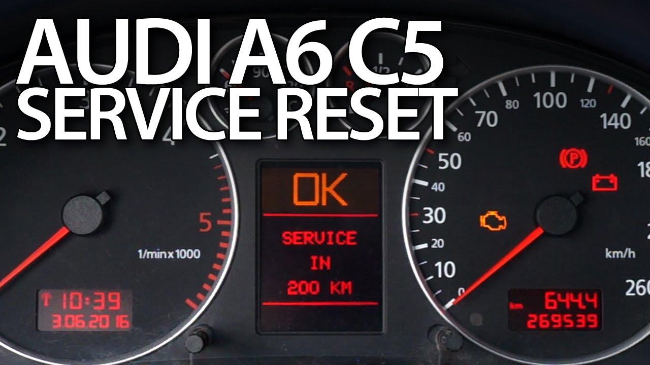 Audi A6 C5 service reset (oil inspection maintenance reminder) - YouTube