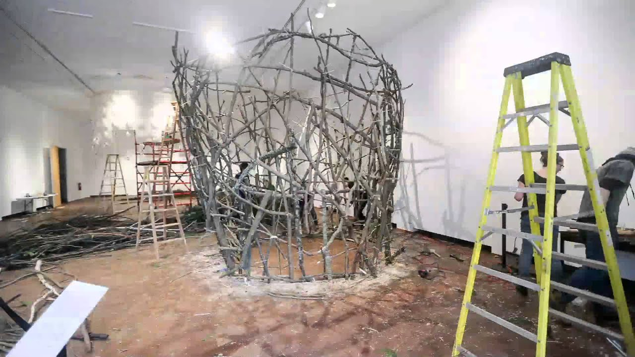 Art Installation Timelapse John Grade Wood Sculpture