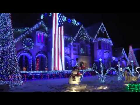 Christmas light show house in Park Ridge Tribute to Prince