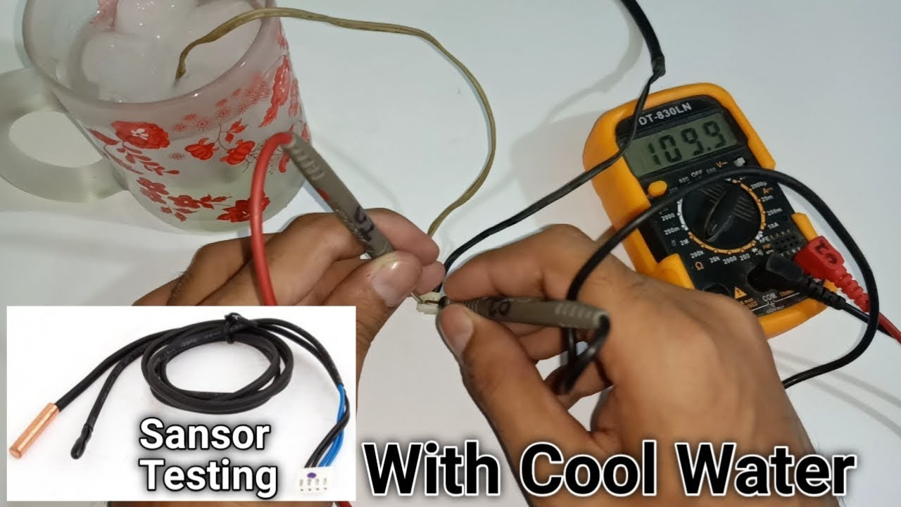 Easy To Check Air Conditioner Temperature Sensor With Cool Water