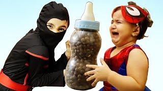 Super Celina Vs Super Ninja Hasouna - سوبر سيلينا وسوبر حسونة