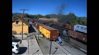 9/14/2018 Seven car train 215 arrives into Chama, NM