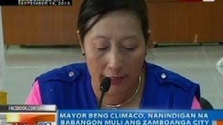 NTG: Mayor Beng Climaco, nanindigan na babangon muli ang Zamboanga City mula sa krisis