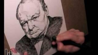 Portrait of Winston Churchill (famous men t-shirt series)
